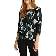 Buy Phase Eight Lilliana Leaf Print Jumper, Pine Online at johnlewis.com