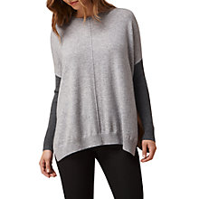 Buy L.K. Bennett Nomi Oversized Wool Blend Knit, Grey/Camel Online at johnlewis.com