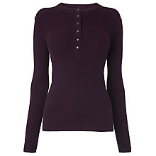 Buy L.K. Bennett Pia Knitted Henley Top Online at johnlewis.com