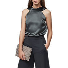 Buy Reiss Shannon Cowl Back Top, Midnight Meadow Online at johnlewis.com