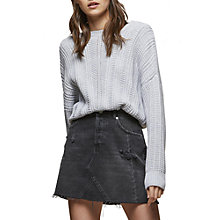 Buy Miss Selfridge Batwing Sleeve Knitted Jumper, Grey Online at johnlewis.com