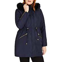 Buy Studio 8 Melanie Parka Coat, Navy Online at johnlewis.com