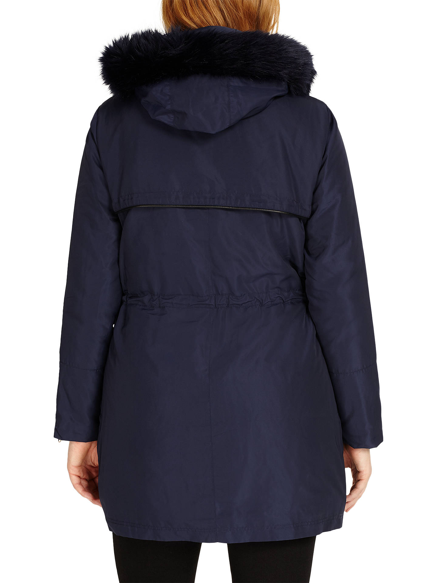 BuyStudio 8 Melanie Parka Coat, Navy, 12 Online at johnlewis.com