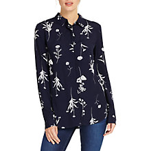 Buy Phase Eight Sarah Sprig Print Shirt, Navy Online at johnlewis.com