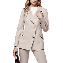 Buy Reiss Lillie Long Sleeve Belted Jacket, Parchment Online at johnlewis.com