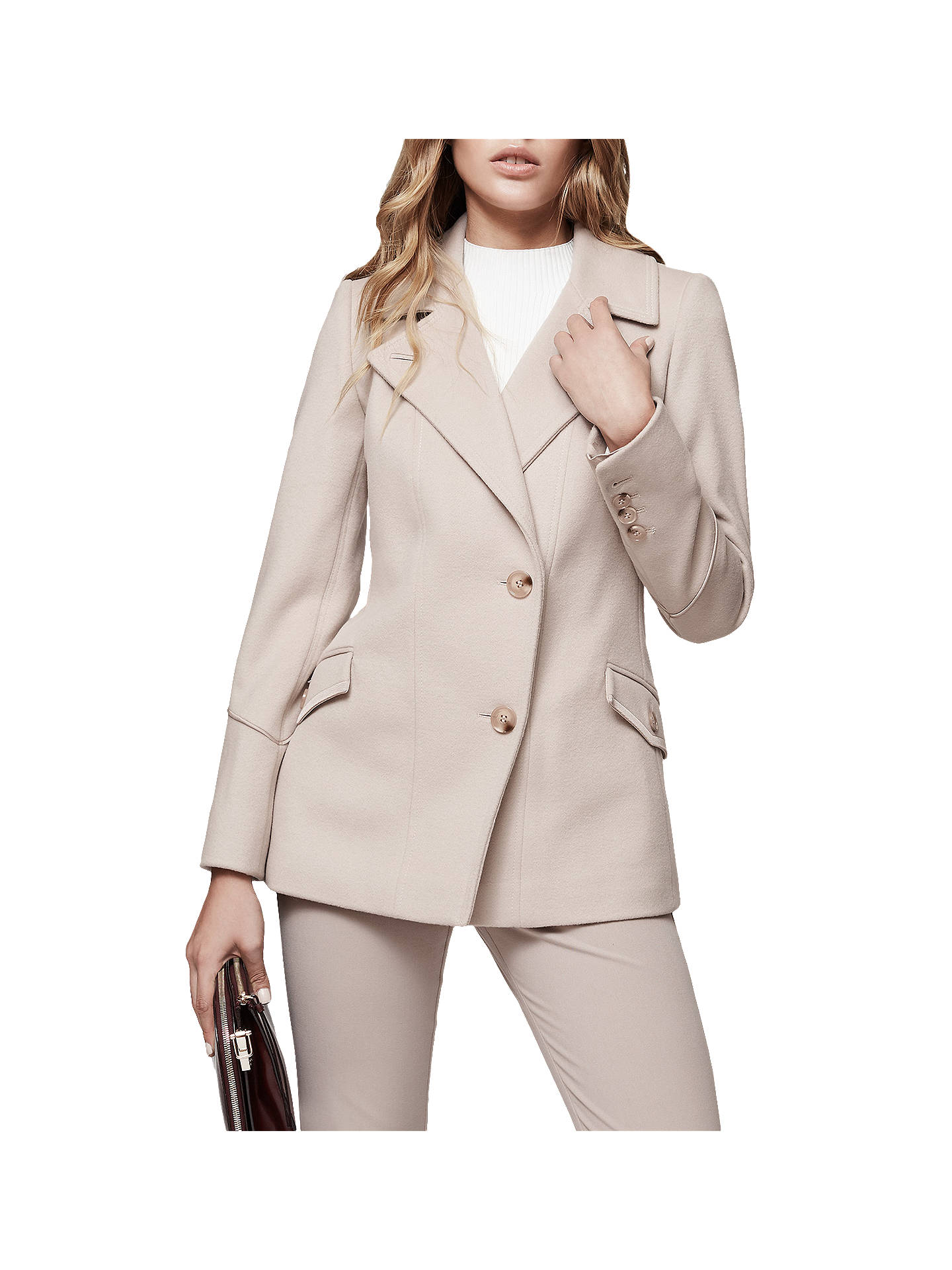 520c47658546b Buy Reiss Lillie Long Sleeve Belted Jacket