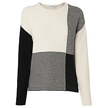 Buy L.K. Bennett Tone Patchwork Wool Jumper, Black/Cream Online at johnlewis.com