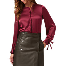 Buy L.K. Bennett Aalia Silk Ruffle Detail Blouse Online at johnlewis.com
