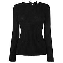 Buy L.K. Bennett Bronny Pure Wool Jumper Top, Black Online at johnlewis.com