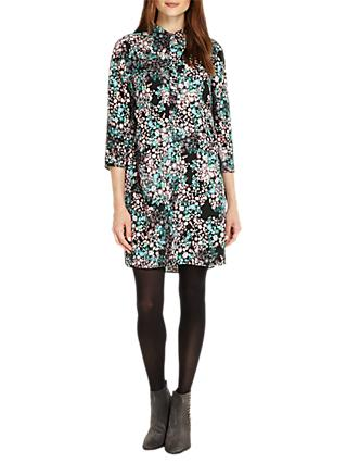 Phase Eight Camille Floral Tunic Dress, Black/Multi