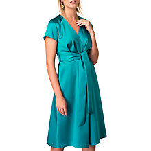 Buy Closet Pleated Front Tie Wrap Dress, Teal Online at johnlewis.com