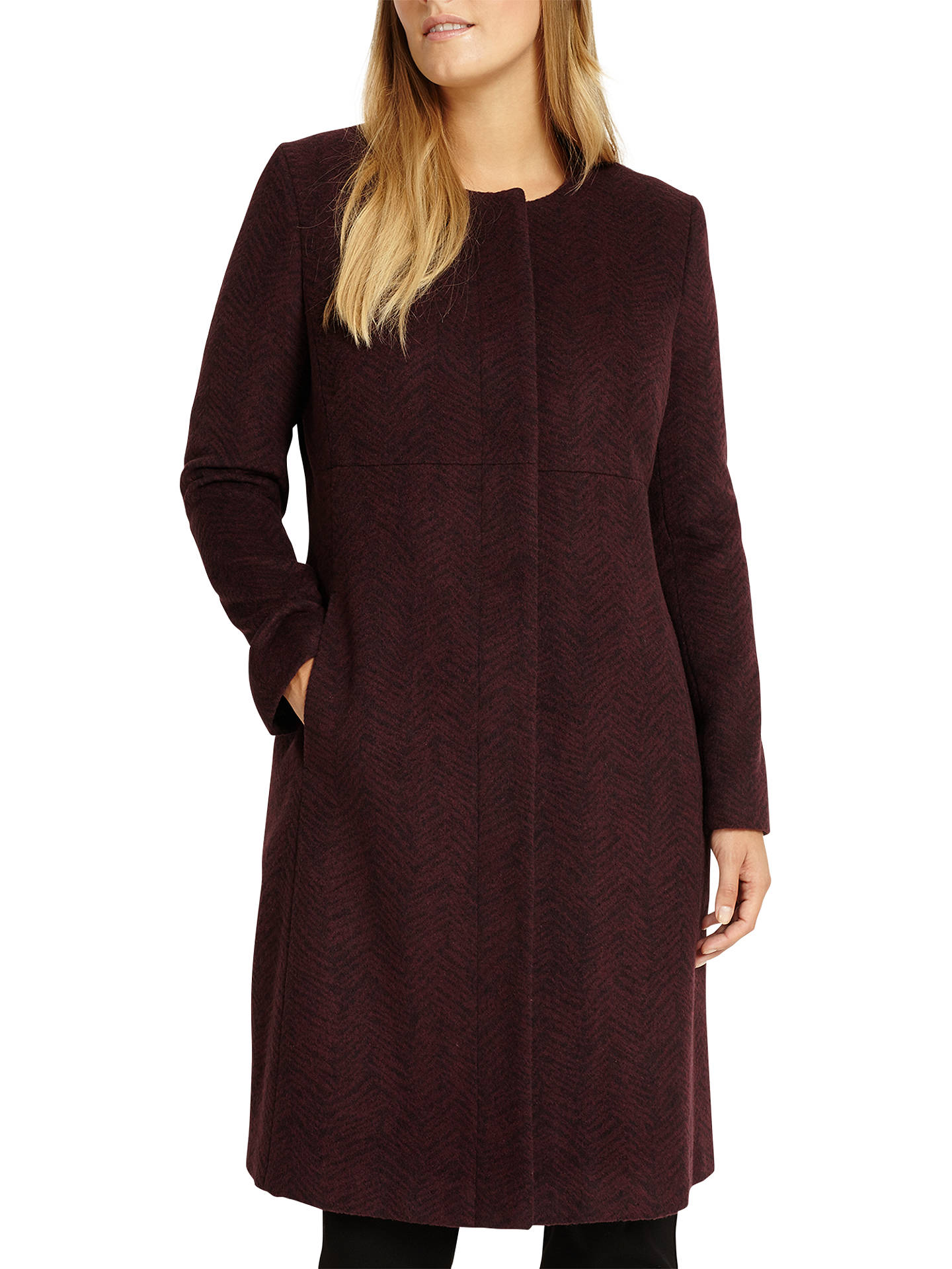 Buy Studio 8 Nina Coat, Burgundy, 16 Online at johnlewis.com