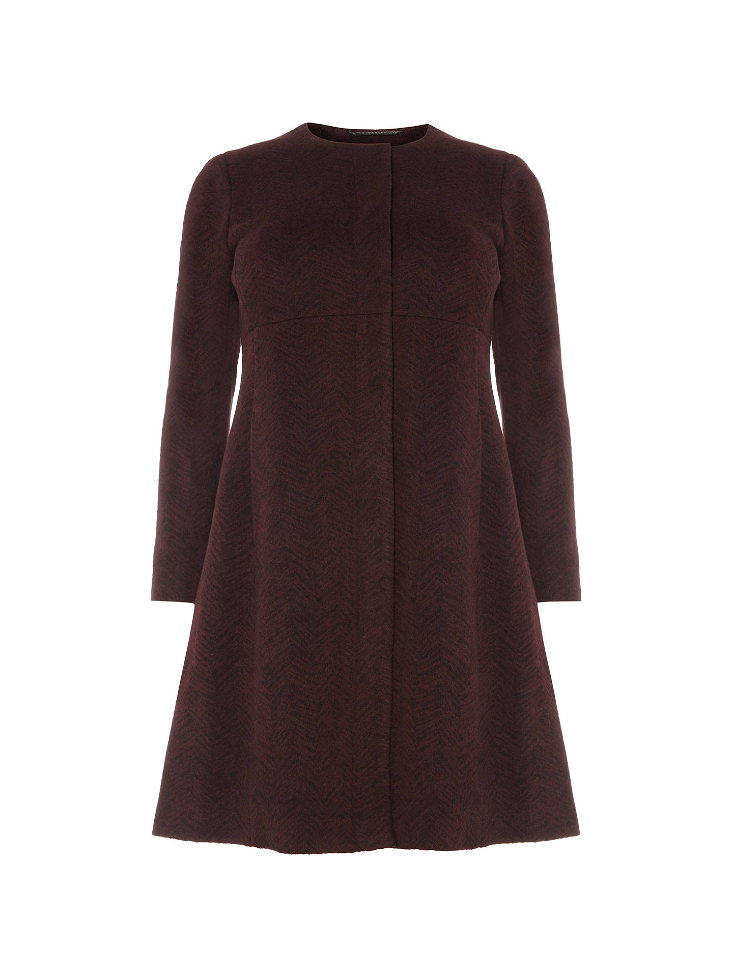 Buy Studio 8 Nina Coat, Burgundy, 26 Online at johnlewis.com