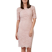 Buy Sugarhill Boutique Devon Fitted Lace Dress, Dusky Pink Online at johnlewis.com