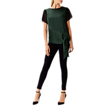 Buy Coast Katrina Mesh Cap Sleeve Top, Multi Online at johnlewis.com