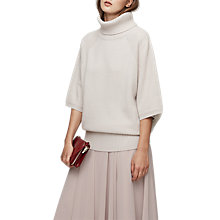 Buy Reiss Alex Roll Neck Jumper, Limewash Online at johnlewis.com