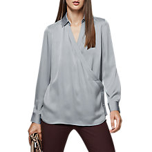 Buy Reiss Gabriella Wrap Blouse Online at johnlewis.com