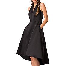 Buy Closet V Neck Flared Hi Low Dress, Black Online At Johnlewis.