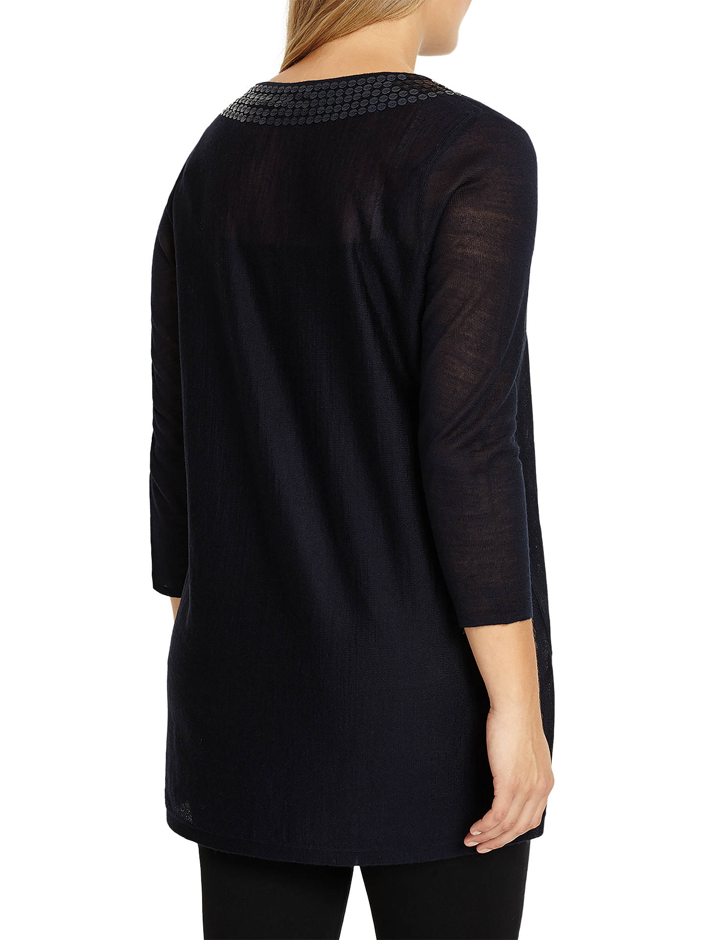 Buy Studio 8 Rosie Knit Top, Navy, 12 Online at johnlewis.com