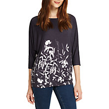 Buy Phase Eight Mira Floral Print Top, Navy Online at johnlewis.com