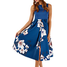 Buy Closet Sleeveless Pleated Floral Dress, Multi Online at johnlewis.com