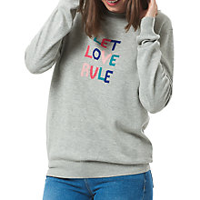 Buy Sugarhill Boutique Rita Let Love Rule Jumper, Grey/Multi Online at johnlewis.com