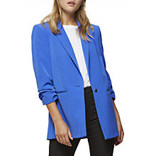 Buy Miss Selfridge Ruched Sleeve Blazer, Bright Blue Online at johnlewis.com
