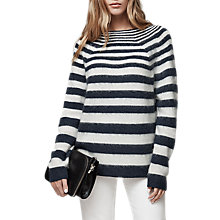 Buy Reiss Esha Brushed Stripe Jumper, White Online at johnlewis.com