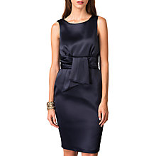 Buy Closet V-Back Tie Waist Dress, Navy Online at johnlewis.com
