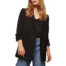 Buy Miss Selfridge Ruched Sleeve Blazer, Black Online at johnlewis.com