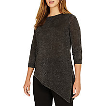Buy Studio 8 Adele Asymmetric Sheer Jumper, Silver Online at johnlewis.com