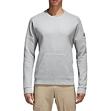 Buy adidas ID Stadium Sweatshirt, Grey Heather Online at johnlewis.com