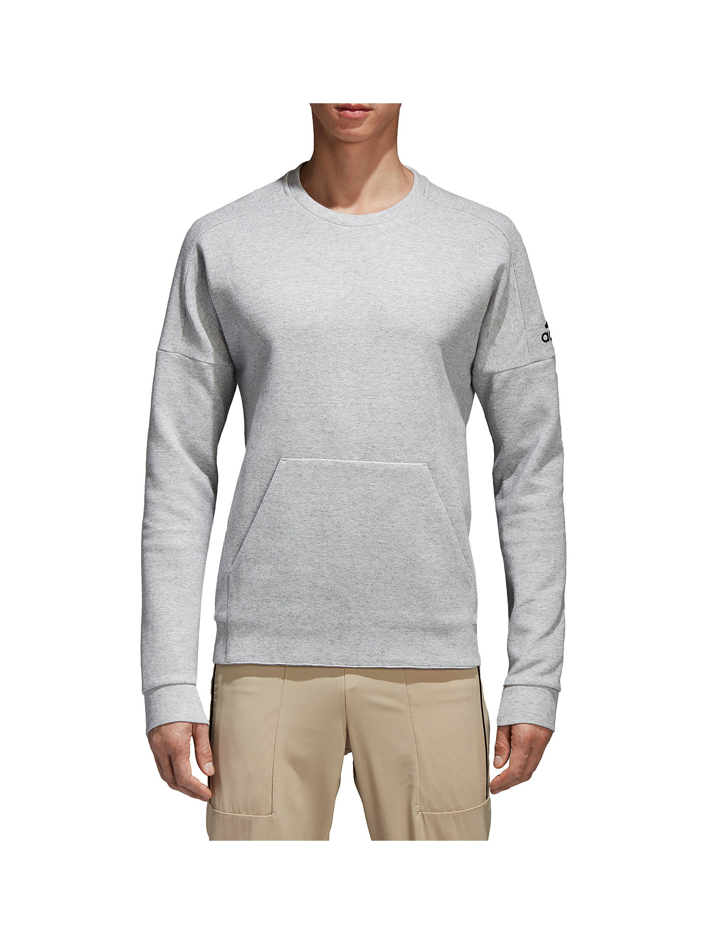 Buyadidas ID Stadium Sweatshirt, Grey Heather, S Online at johnlewis.com