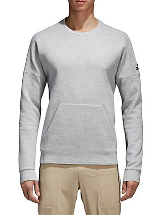 adidas ID Stadium Sweatshirt, Grey Heather