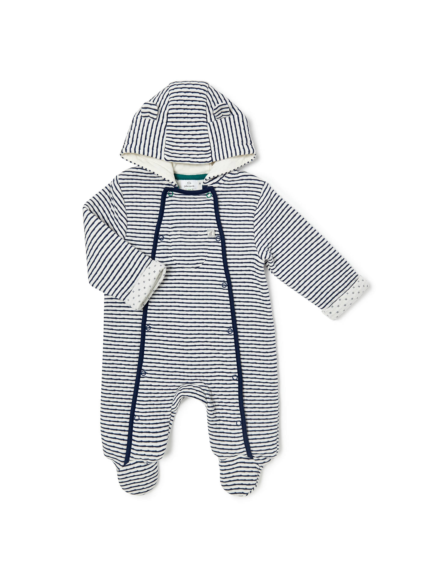 e433a8b53 John Lewis   Partners Baby Wadded Stripe All-in-One