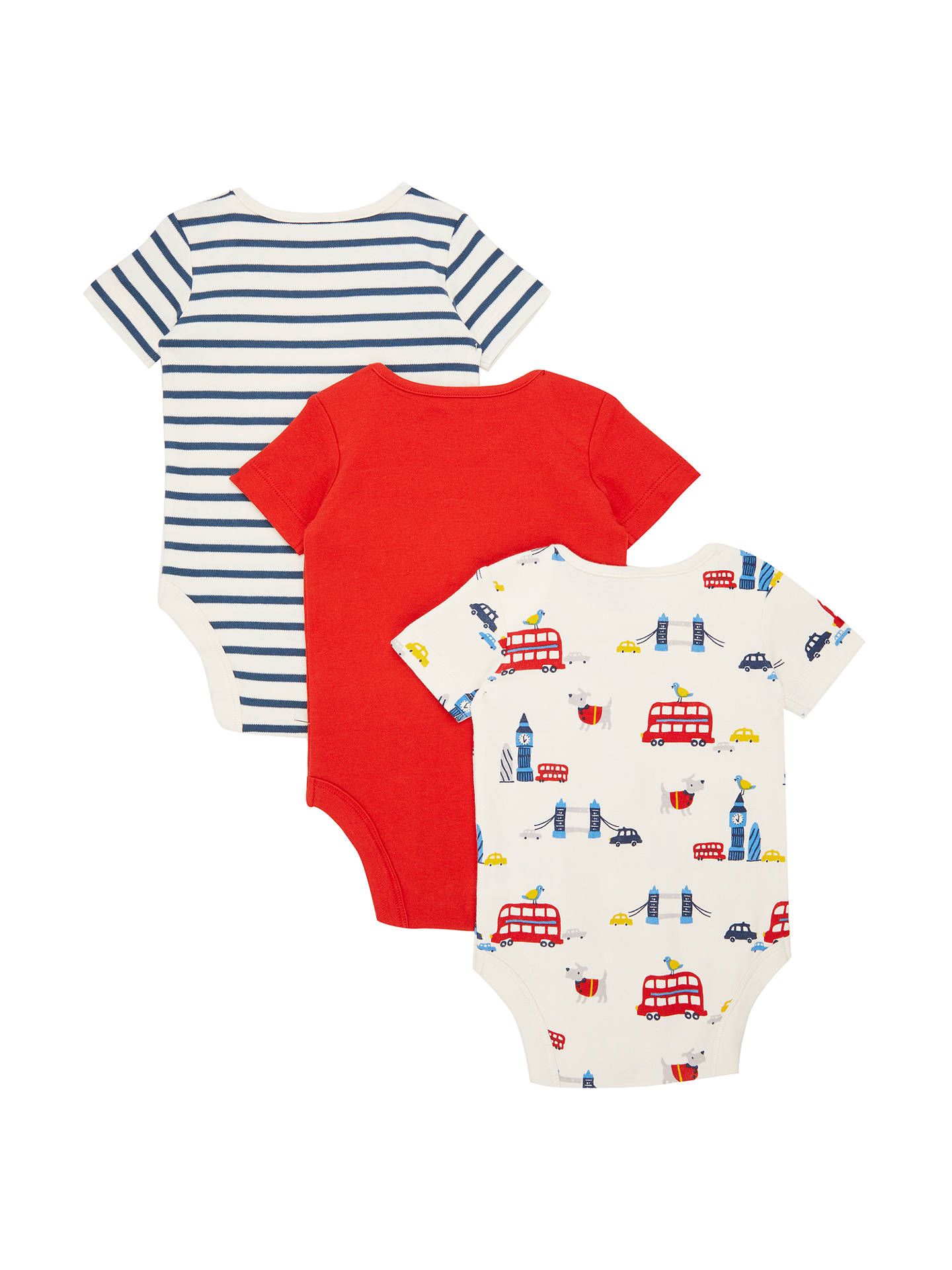 bdde8dc27901 John Lewis   Partners Baby GOTS Organic Cotton Short Sleeve London ...