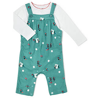 Easter toys soft cuddly chicks bunnies at john lewis john lewis baby bunny and mouse print jersey dungaree set green negle Image collections