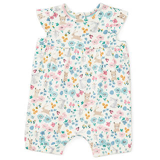 Easter toys soft cuddly chicks bunnies at john lewis john lewis baby gots organic cotton floral romper multi negle Image collections