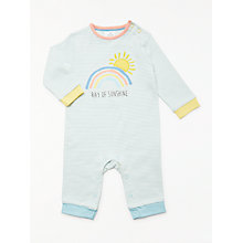 Buy John Lewis Baby GOTS Organic Cotton Ray of Sun Romper, Multi Online at johnlewis.com
