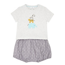 Buy John Lewis Baby Jungle Friends T-Shirt and Shorts Set, Grey Online at johnlewis.com