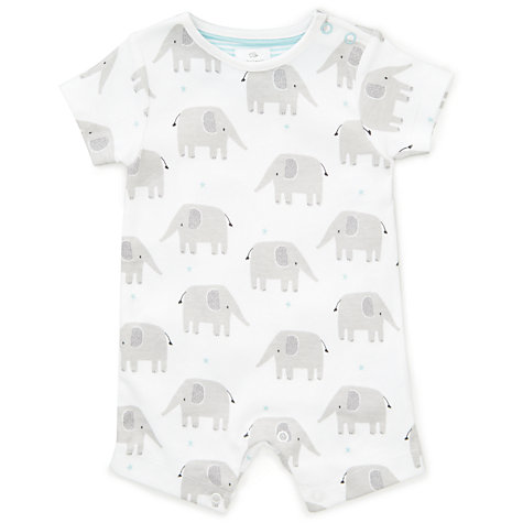 Buy john lewis baby gots organic cotton elephant romper white buy john lewis baby gots organic cotton elephant romper white online at johnlewis negle Image collections