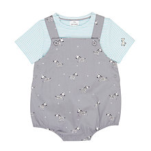 Buy John Lewis Baby Woven Zebra Print Romper Set, Grey Online at johnlewis.com