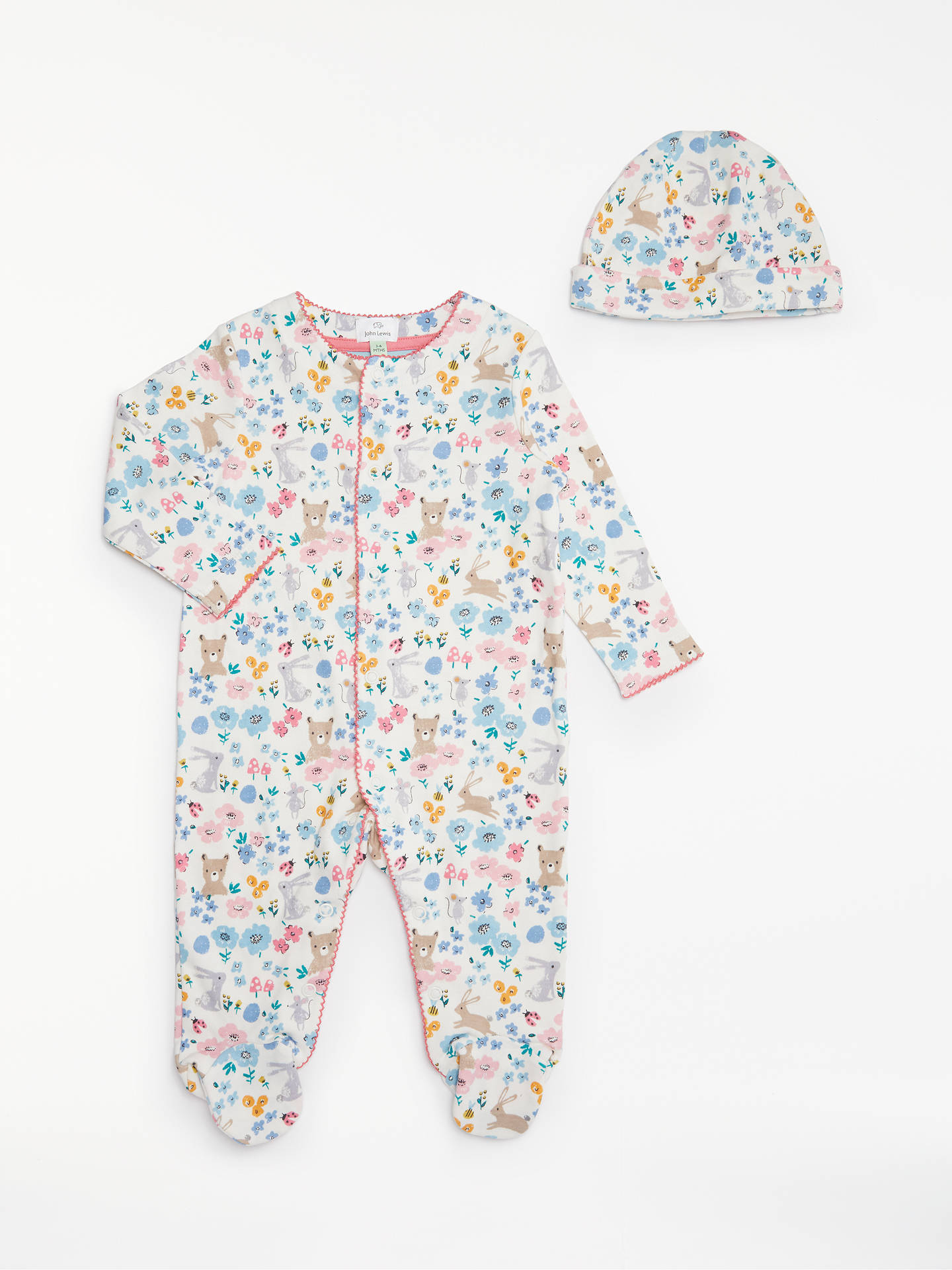 33c21572d9f3 John Lewis   Partners Baby GOTS Organic Cotton Animals   Flowers ...