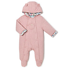 Buy John Lewis Baby Wadded All-in-One, Pink Online at johnlewis.com