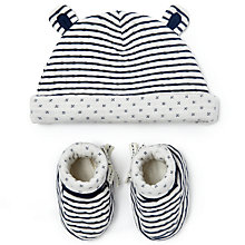 Buy John Lewis Baby Hat and Booties Set, Grey Online at johnlewis.com