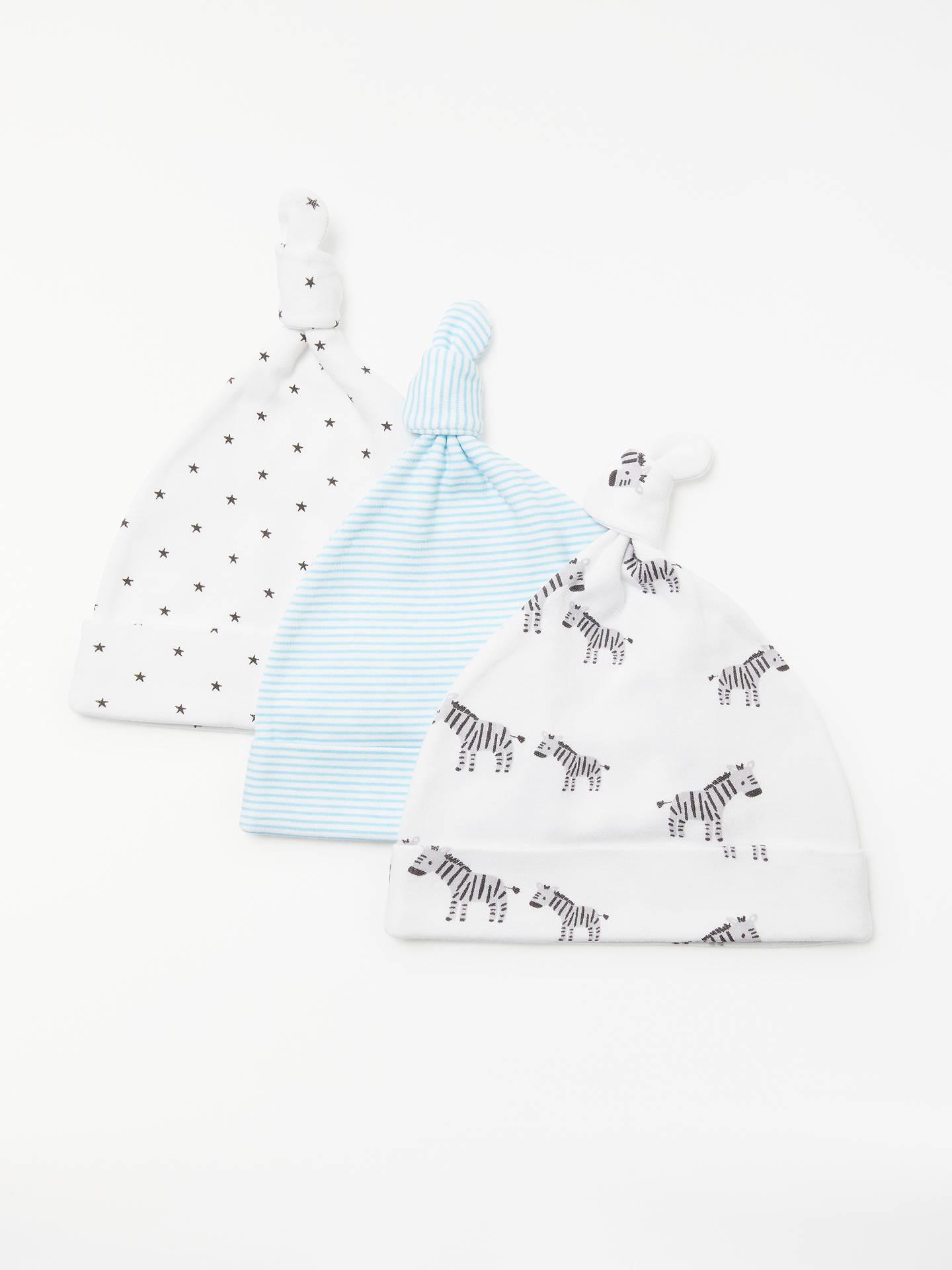 659ef0ec910 Buy John Lewis   Partners Baby GOTS Organic Cotton Zebra Hat