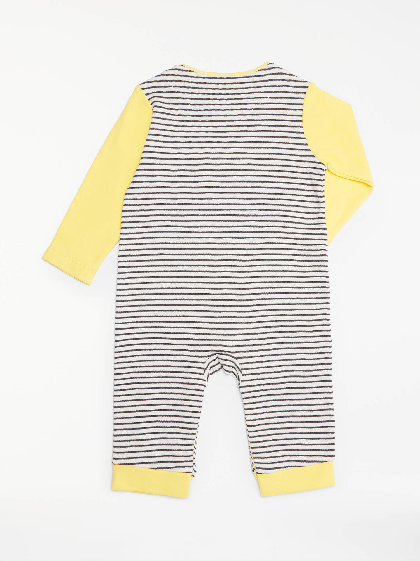 a2bb40d23 John Lewis Baby GOTS Organic Cotton Stripe Bunny Long Sleeve Romper ...