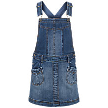 Buy Fat Face Girls' Denim Dungaree Dress, Navy Online at johnlewis.com
