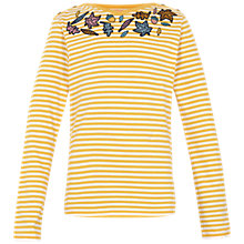 Buy Fat Face Girls' Leaf Striped T-Shirt Online at johnlewis.com