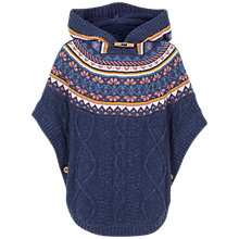Buy Fat Face Girls' Cambridge Poncho, Navy Online at johnlewis.com